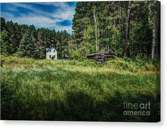 Farm In The Woods Canvas Print