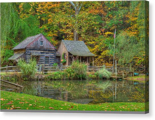 Farm In Woods Canvas Print