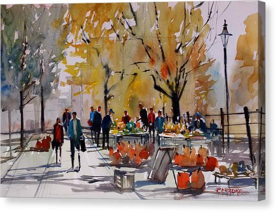Pumpkin Canvas Print - Farm Market - Menasha by Ryan Radke