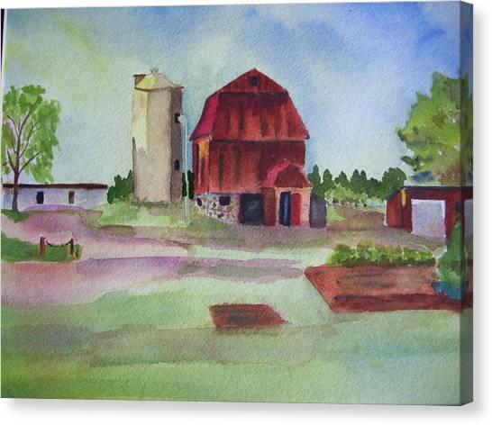 Farm On Hwy K Canvas Print