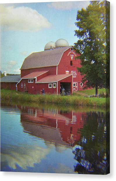 Farm Reflection Canvas Print by JAMART Photography