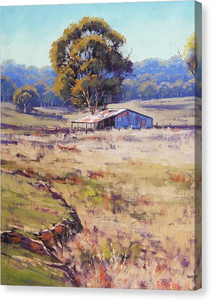 Rural Scenes Canvas Print - Farm Shed Pyramul by Graham Gercken
