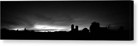 Farm Silhouette II Canvas Print by William Haney