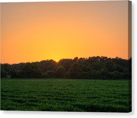 Farm Sunset Canvas Print