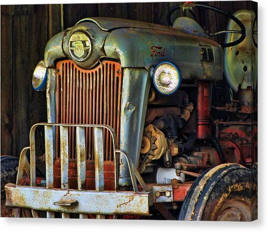 Farm Tractor Two Canvas Print