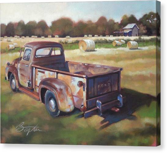 Rusty Truck Canvas Print - Farm Truck by Todd Baxter