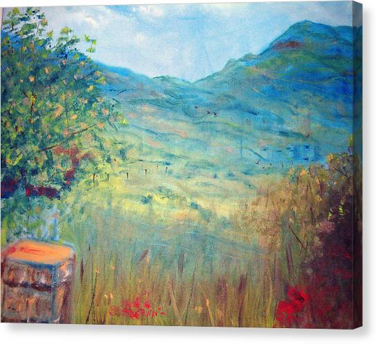 Farm View Near Davis Mountains Canvas Print by Richalyn Marquez