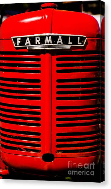 Farmall Grill Canvas Print