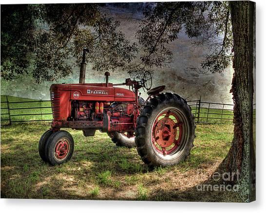 Farmall In The Field Canvas Print