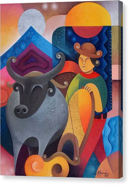 Farmer Canvas Print by Hermel Alejandre