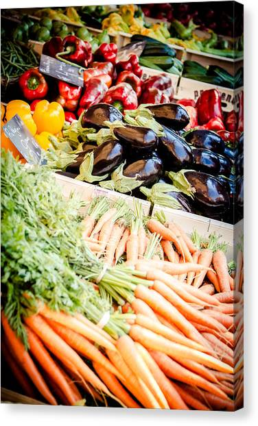Canvas Print featuring the photograph Farmer's Market by Jason Smith