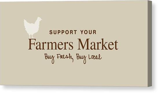 Farmers Market Canvas Print