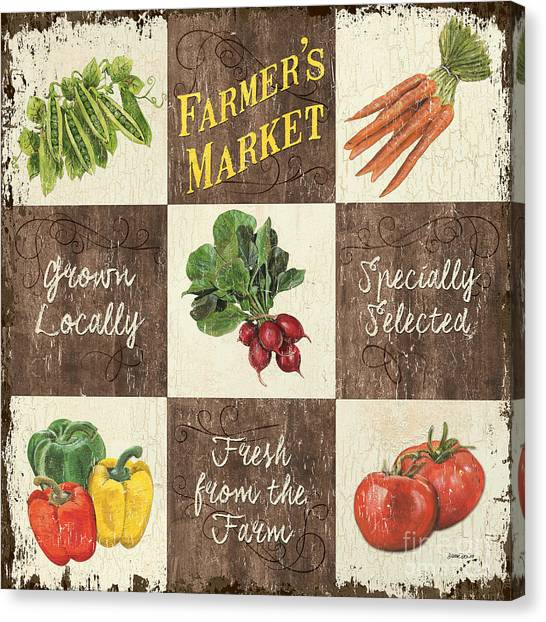 Organic Canvas Print - Farmer's Market Patch by Debbie DeWitt