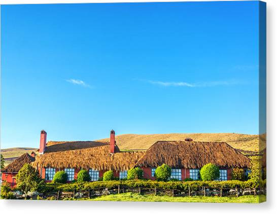 Cotopaxi Canvas Print - Farmhouse In Ecuador by Jess Kraft