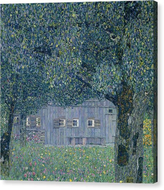 Gustav Klimt Canvas Print - Farmhouse In Upper Austria by Gustav Klimt