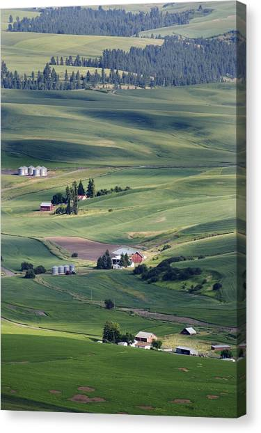 Farmland In Eastern Washington State Canvas Print