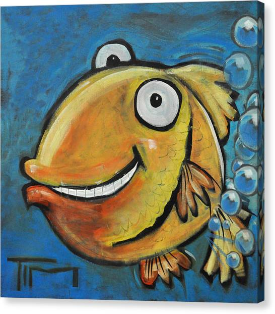 Farting Fish Canvas Print