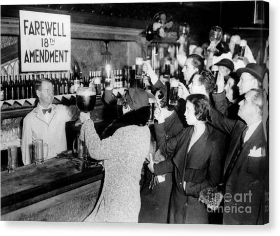 Vintage Chicago Canvas Print - Farwell 18th Amendment by Jon Neidert
