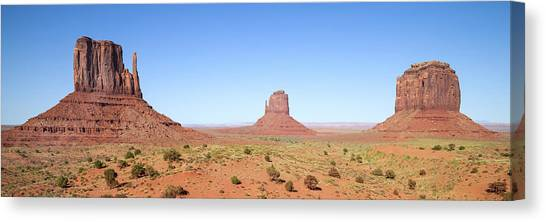 Fascinating Monument Valley Panoramic View Canvas Print by Melanie Viola