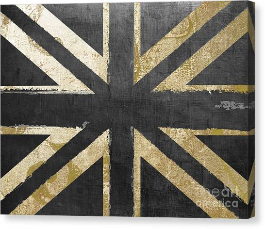Pattern Canvas Print - Fashion Flag United Kingdom by Mindy Sommers