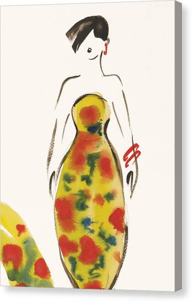 Bare Shoulder Canvas Print - Fashion Iv by Susan Adams