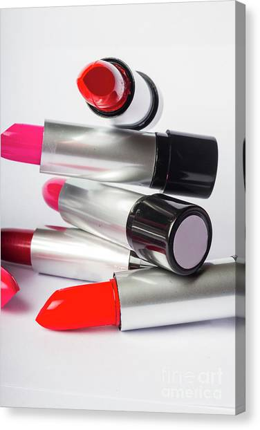 Fashion Model Lipstick Canvas Print