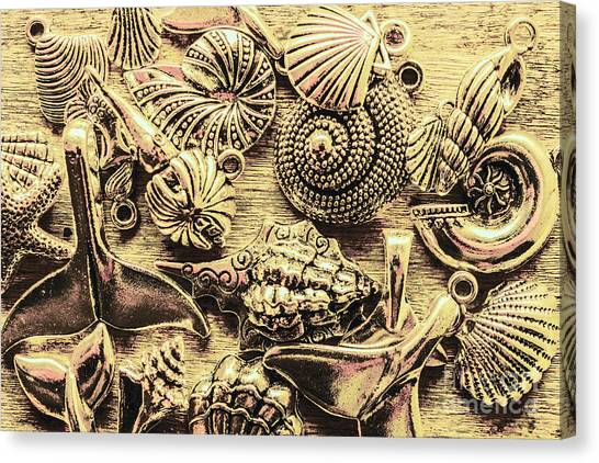 Oysters Canvas Print - Fashioning A Oceanic Theme by Jorgo Photography - Wall Art Gallery