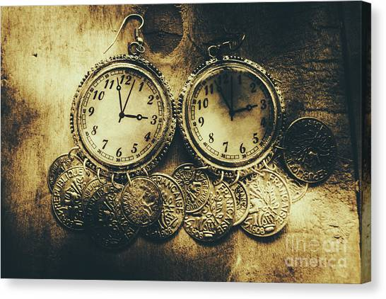Coins Canvas Print - Fashioning The Time And Money Conundrum by Jorgo Photography - Wall Art Gallery