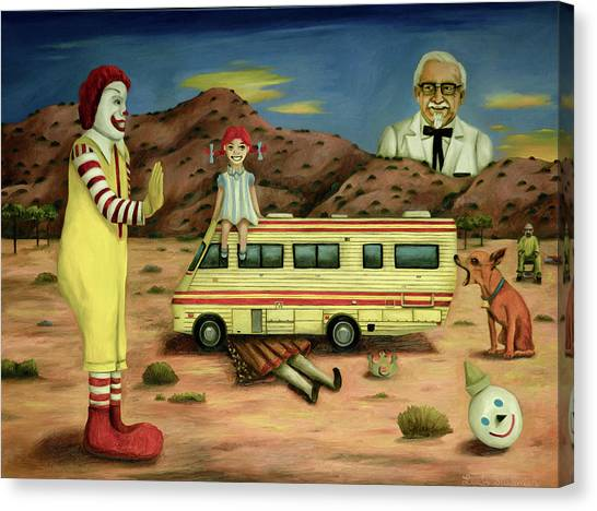 Fast Food Canvas Print - Fast Food Nightmare 5 The Mirage by Leah Saulnier The Painting Maniac