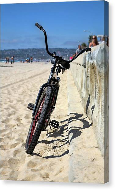Mission San Diego Canvas Print - Fat Tire - Color by Peter Tellone