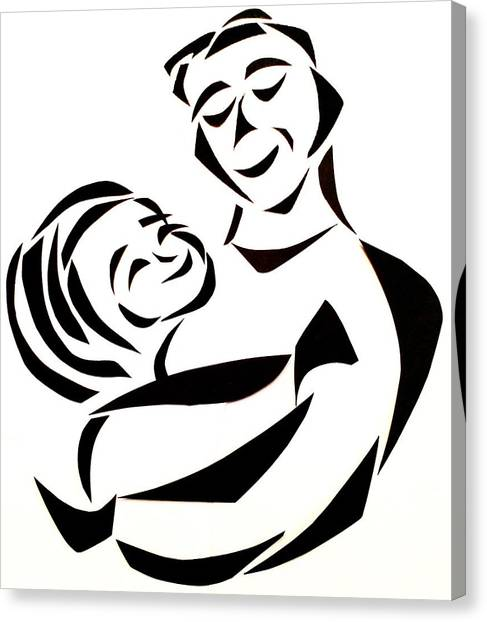 Father And Child Canvas Print