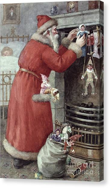 December Canvas Print - Father Christmas by Karl Roger