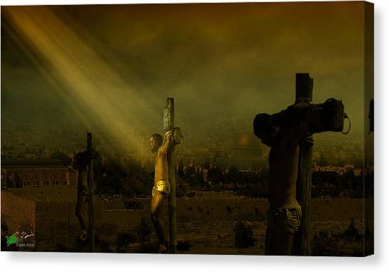 Father, Into Your Hands I Commend My Spirit Canvas Print