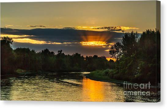 Father's Day Sunset Canvas Print