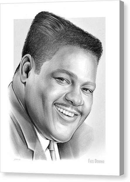 Drums Canvas Print - Fats Domino by Greg Joens