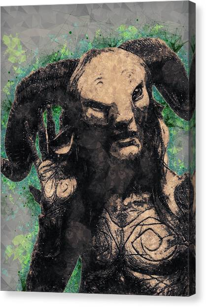 Faun Canvas Print - Faun - Pan's Labyrinth  by Studio Grafiikka