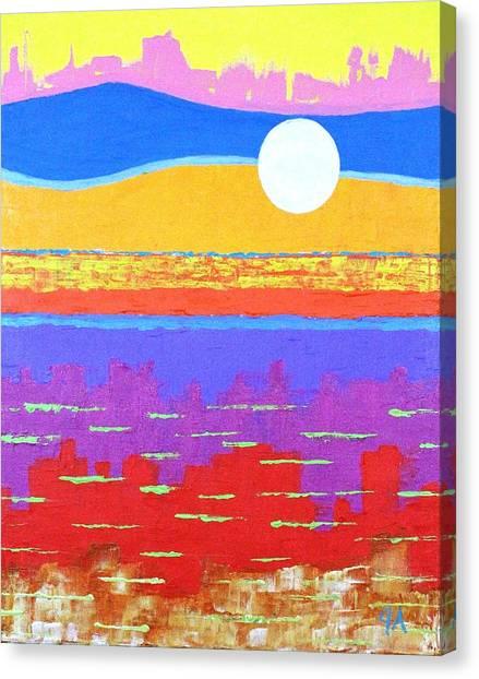 Fauvist Sunset Canvas Print