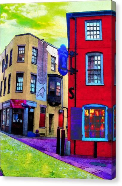 Faux Fauve Cityscape Canvas Print
