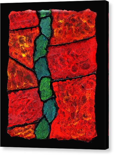 Faux Tile Painting One Canvas Print