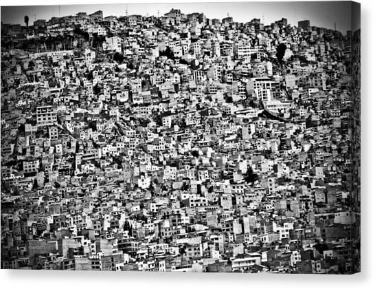 Bolivian Canvas Print - Favela Village In El Alto, La Paz, Bolivia by Joel Alvarez
