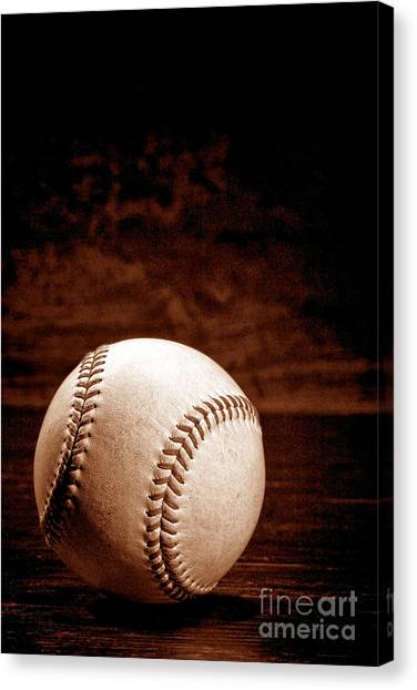 Baseball Canvas Print - Favorite Pastime  by Olivier Le Queinec