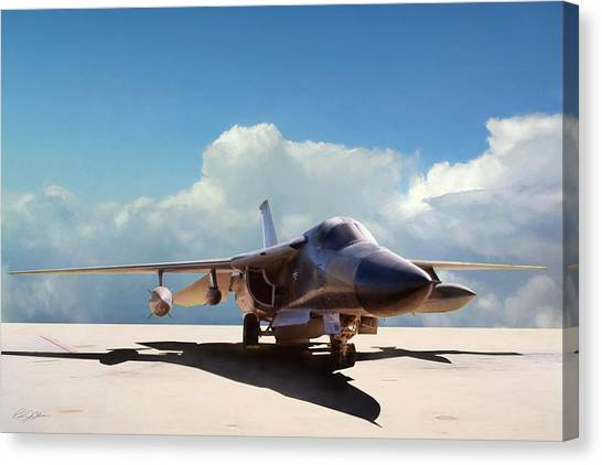 Linebackers Canvas Print - Fb-111a by Peter Chilelli