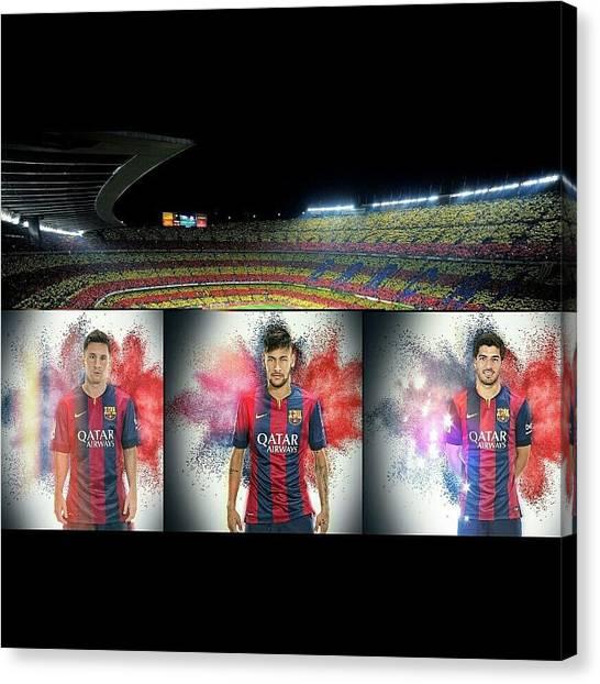 Soccer Teams Canvas Print - Fc Barcelona by Remeldo Emilio