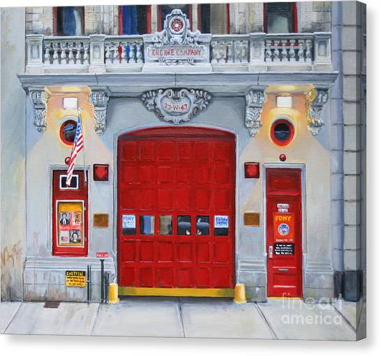 Nyfd Canvas Print - Fdny Engine Company 65 by Paul Walsh
