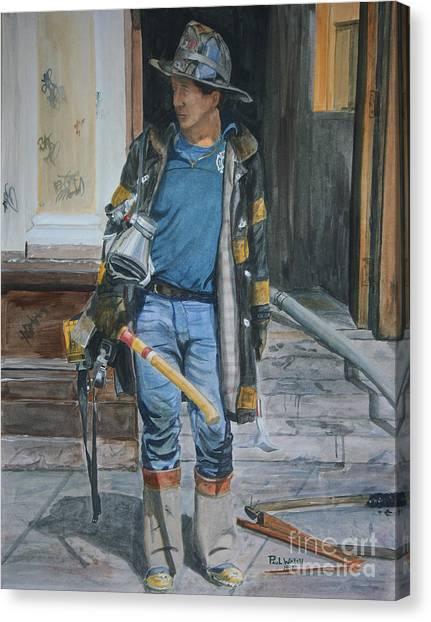 Harlem Canvas Print - Fdny  Harlem Truckie- Ladder 28 by Paul Walsh