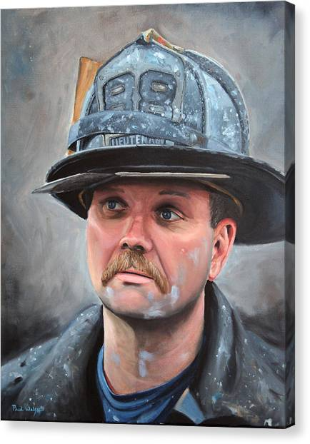 Nyfd Canvas Print - Fdny Lieutenant by Paul Walsh