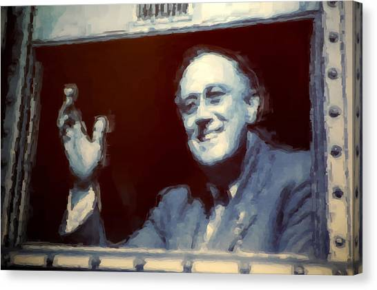 Franklin D. Roosevelt Canvas Print - F.d.r. Painting by Robert Meanor