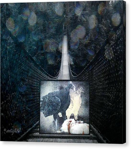Canvas Print featuring the digital art Fear Of Stairs by Delight Worthyn