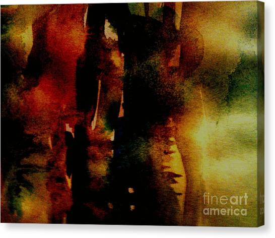 Fear On The Dark Canvas Print