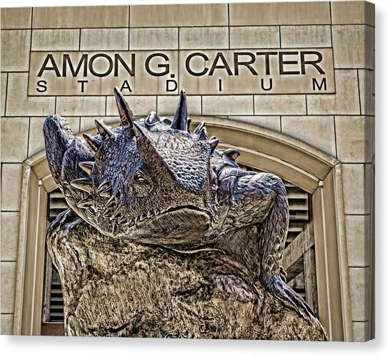 Big Xii Canvas Print - Fear The Frog - Tcu 2 by Stephen Stookey